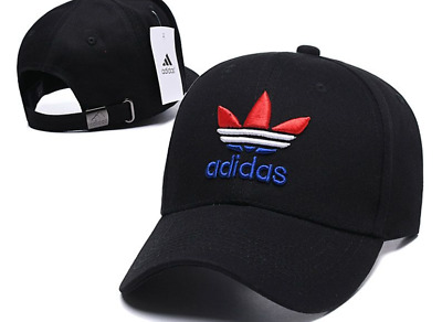 new style 5d4f3 6c2d9 2019 new ADIDAS Men s Originals Relaxed Strapback Trefoil Cap black hat!
