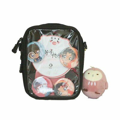 6 COLORS CLEAR ita Bag Transparent itabag Pin Display
