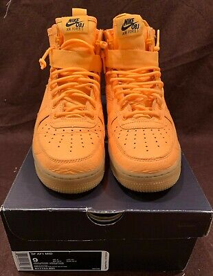 new concept 16669 8d534 NIKE SF Air Force 1 Mid Laser Orange Odell Beckham Jr. Size 9 in Box