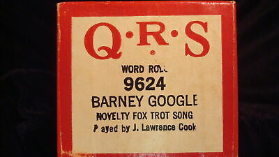 Barney Google - QRS 9624 Player Piano Word Roll
