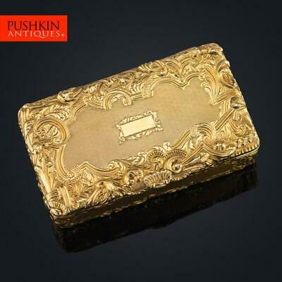 ANTIQUE 19thC FRENCH 18K GOLD SNUFF BOX, PARIS c.1820
