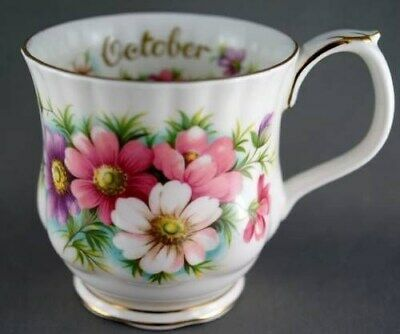 Royal Albert Cosmos October Flower Month Coffee Mug