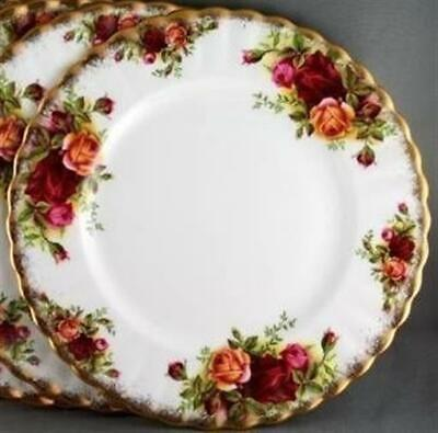 Lot of eight Royal Albert Old Country Roses Tea Plates Teaplates