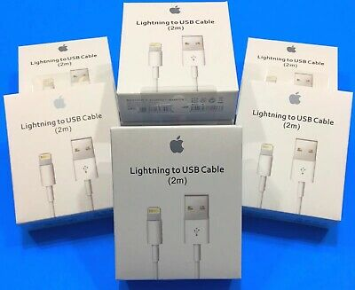 Genuine Original OEM Apple iPhone X 8 7 6s Plus 2M USB Cable Charger
