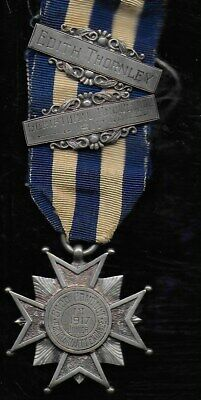 Hallmarked Silver Medal 1917 Good Conduct . In Case