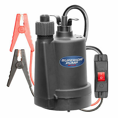 Superior Pump 91012 Volt Thermoplastic Utility Pump With Garden Hose Adapter