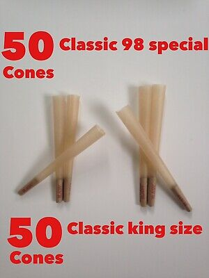 Raw Classic King Size Cone(50 Pack)+ raw Classic 98 Special Cone(50 Pack)