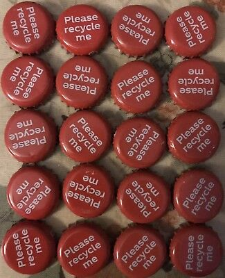 20 Coca Cola Red Please Recycle Me Crown Cap Bottle Tops