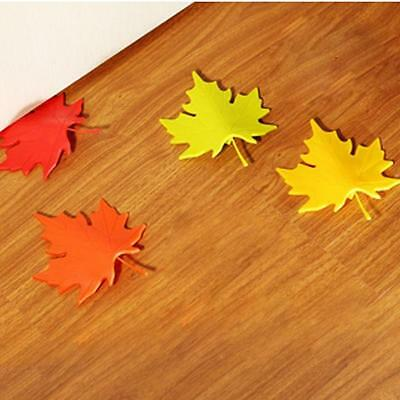 Maple Leaf Door Stop Stopper Colorful Baby Children Safety Finger Protection AL