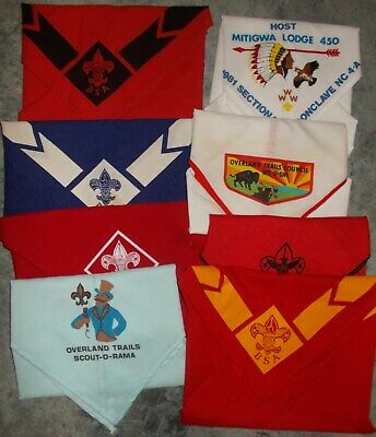 8 Boy Scouts of America Scarves - Lot A