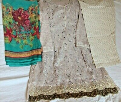 3 piece Chickan Kari Stitched suit