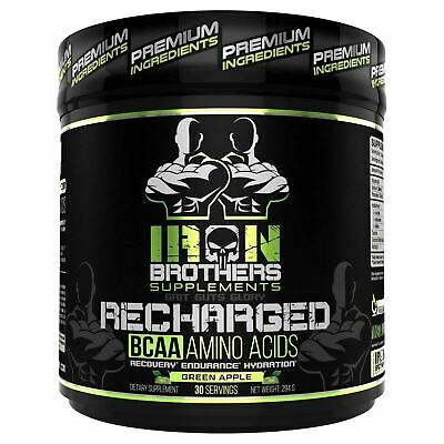 Iron Brothers Supplements Bcaa Green Apple- Cut Recovery Time In Half!