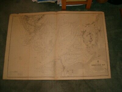 Vintage Admiralty Chart 2010 UK - MORECAMBE BAY 1916 edn