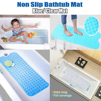 34x15in Large Non-Slip Bath Tub Mat Adult Kids Safety Shower Protection Carpet