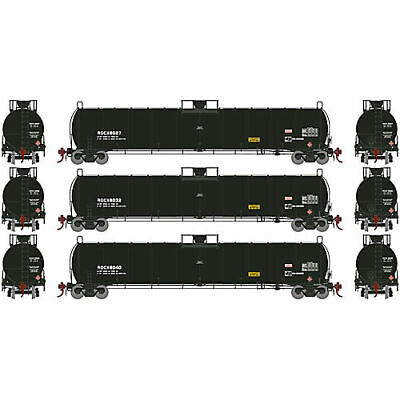 Athearn HO 33 900-Gallon LPG Tank Early ROCX (3) ATHG25493
