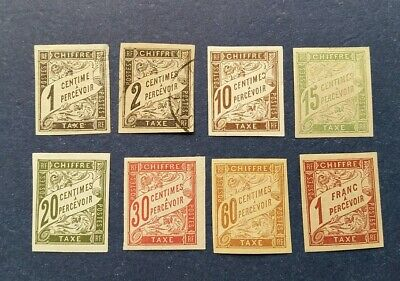 French Colonies Stamps, Scott J1//J22