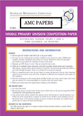Australian Mathematics Competition amc 15 papers n solutions middle primary
