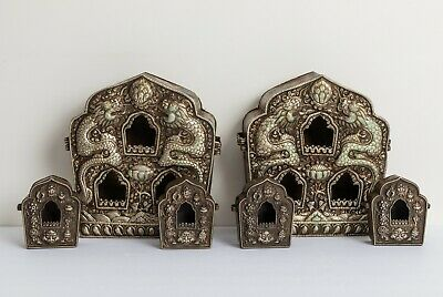 Group Of 6 Chinese Tibetan Antique/Vintage Bronze Buddhist Niche Shrines