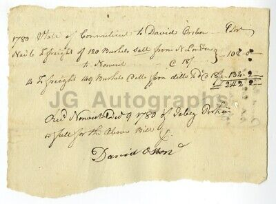 American Revolution 1780 Document Relating to the Purchase of Salt for Gunpowder