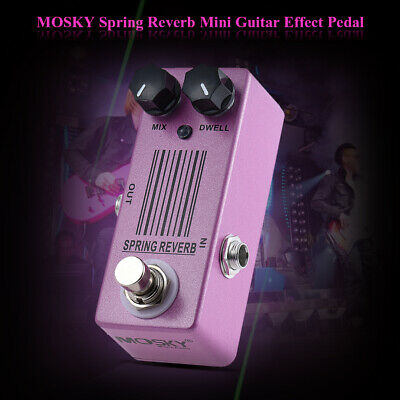 MOSKY Spring Reverb Guitar Effect Pedal True Bypass Super Low Noise Purple