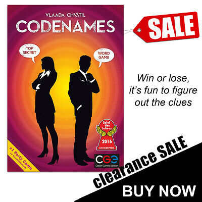 Codenames Card Game Award Winning Game By Czech Games
