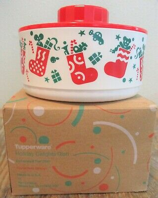 Tupperware Holiday Delights Dish Christmas Design Decorated Tier Dish NEW In Box