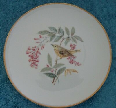 vintage HUTSCHENREUTHER Aubdubon YELLOW WARBLER Bird DISPLAY PLATE