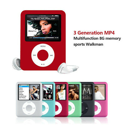 iPod Style LCD With Up TO 32GB Memory Music Video Media Player FM Radio MP3 MP4