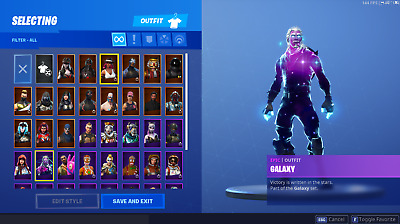 Fornite Account OG | Galaxy Skin, Black Knight, + more
