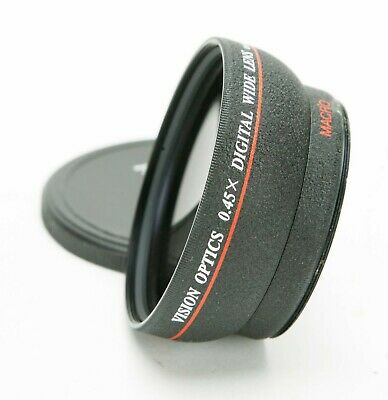 Digital 0.45X HD Wide Angle & Macro Two Video Lenses With 58mm Thread. Japan.