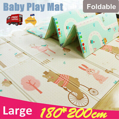 Baby Kids Floor Play Mat Foldable Floor Rug Nontoxic Picnic Cushion Alphabet AU