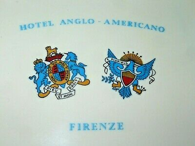 Vintage Plastic Change Tray Italy HOTEL ANGLO-AMERICAN FIRENZE Florence