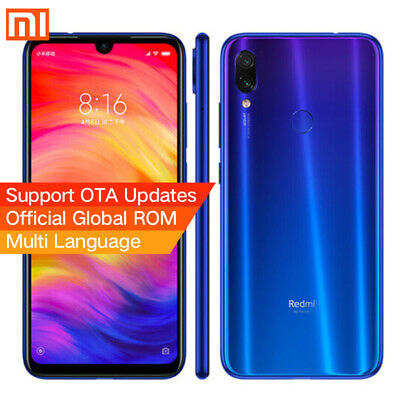 "Xiaomi Redmi Note 7 Smartphone 4GB Ram 64GB 6,3"" Octa core 48MP Móvil libre Azul"