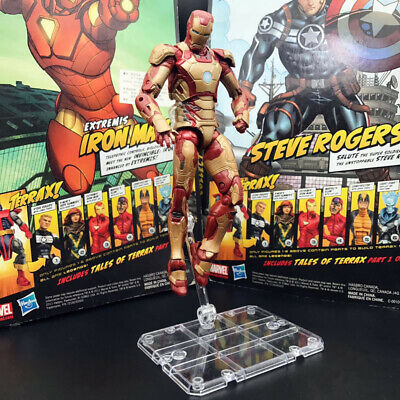 """Marvel Legends Iron Man MK 42 Armor with Stand 6"""" Action Figure Loose"""