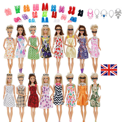 Barbie Doll Dresses, Shoes and jewellery Clothes Accessories 30pcs/Set
