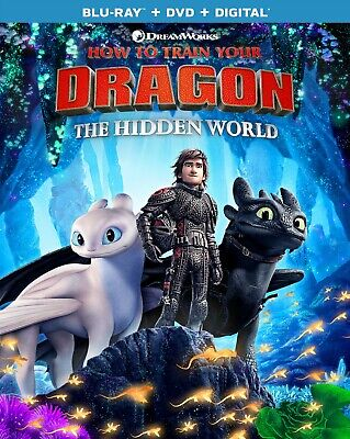 How to Train Your Dragon:The Hidden World (Blu-ray + DVD NEW NO DIGITAL CODE