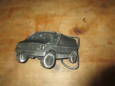 VINTAGE 1970s CHEVROLET CHEVY Van.SOLID BRASS Bergamot BELT BUCKLE U-38,Car 1978