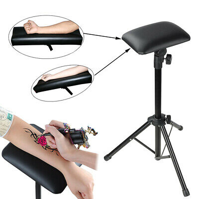 Adjustable Foldable Tattoo Arm Leg Rest Chair Sponge Pad Portable Tripod Stand