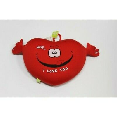 Peluche Cuscino Cuore Con Braccia Antistress I Love You 30 X 26 Cm (2242674)