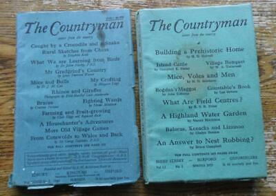 2 magazines The Countryman -Building a Prehistoric Home Caught by a Croc 1946+55