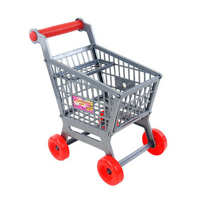 Miniature Supermarket Shopping Hand Trolley Cart for Kids Play House Toys