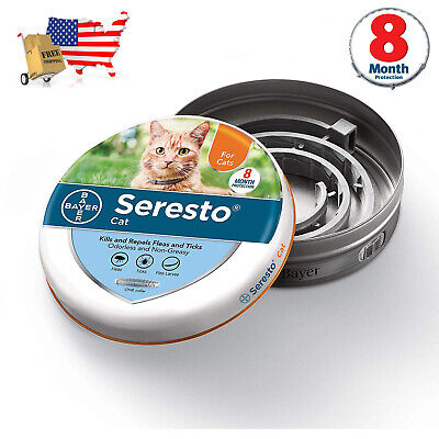 Bayer Seresto Flea and Tick Collar for Cats, EPA APPROVED USA 1PACK