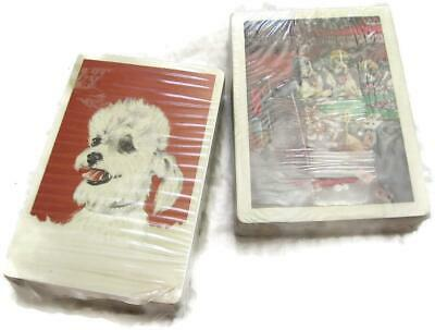 Vintage Unopened Playing Cards Decks - Stardust Poodle w IRS Stamp - Poker Dogs