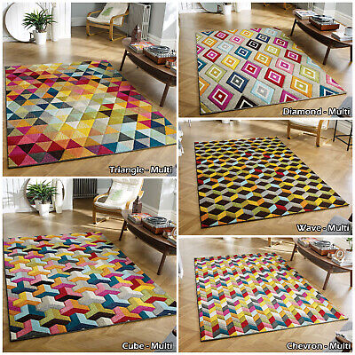 Multi Large New Small Modern Thick Geometric Quality Sale Discount Rug Runner