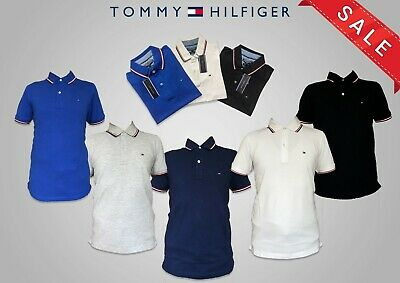Tommy Hillfiger Polo Shirt for Men Short Sleeve 5 Colours for Sale