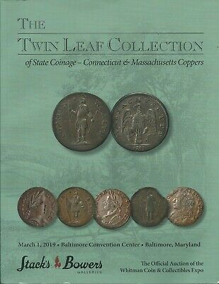 STACK'S Connecticut Massachusetts Coopers State Coinage Twin Leaf Coll Catalog