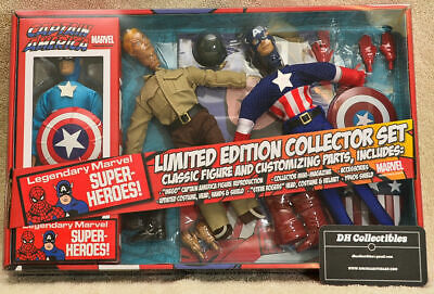 """Marvel Limited Edition Collector Set Captain America - Action Figure 8"""" Mego"""