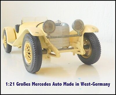 Mercedes Sportwagen Auto  M 1:21 Made in Western Germany GAMA 1502 SSK 1928  alt