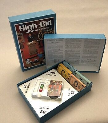 1965 Vintage 3M Bookshelf Game HIGH~BID:The AUCTION GAME For 2-4 Players Ages 8+