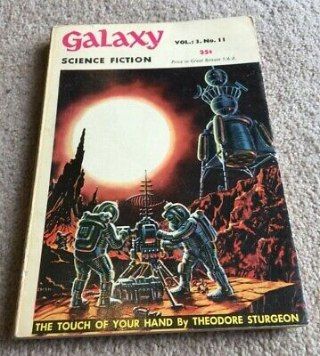 1950's Galaxy Science Fiction Vol 3 No 11, Theodore Sturgeon etc